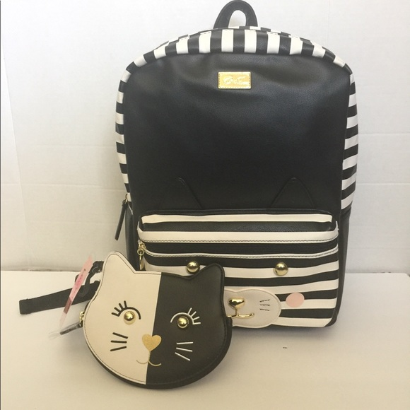 Luv Betsey Womens Leo PVC Kitch Large Backpack